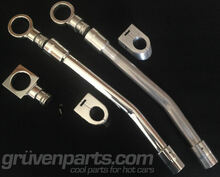 GruvenParts Billet 1.8T Dipstick Handle and Funnel - High Polished on Left, Machined on Right