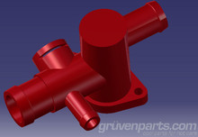 GruvenParts.com MK4 VW and MK1 Audi TT 1.8T Coolant Flange.  Color is shown for display purposes only.