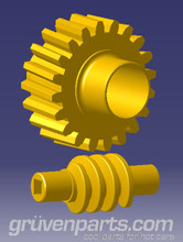 GruvenParts Brass Power Seat Height Adjustment Gears