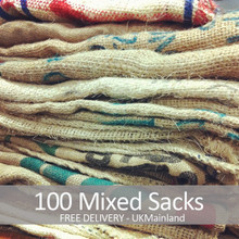 100 Mixed Used Coffee Sacks