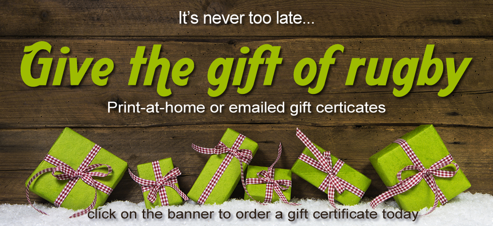 Give the Gift of Rugby; Gift Certificates from Steamroller Rugby Supply