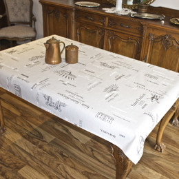 Carte des Vins - Lin 155x120cm  4-6 Seats Small Tablecloth