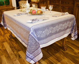 Olivia Lin Jacquard FrenchTablecloth 160x200cm 6seats Made in France