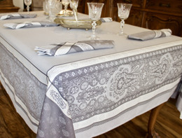 Vaucluse - Perle Jacquard FrenchTablecloth 160x200cm  6seats