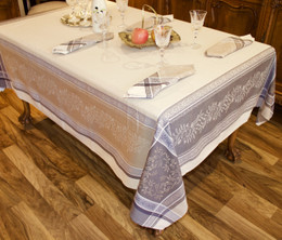 Olivia - Lin Jacquard French Tablecloth 160x250cm  8seats