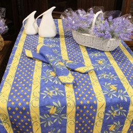 Cicada 155x350cm 12Seats French Tablecloth Made in France