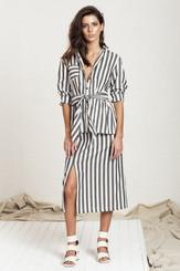 Midi Split skirt - BW