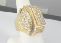 5 Carat Gents Diamond Ring, in 18k Yellow Gold