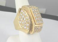 5 Carat Gents Diamond Ring, in 18k Yellow Gold