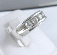 3/4 Carat Channel Set Diamond Band Ring, in 14k White Gold