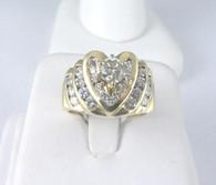 1 1/4 Carat Heart Design Diamond Ring, in 14k Yellow Gold