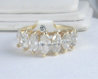 2 Carat Marquise Diamond Band Ring, in 14k Yellow Gold