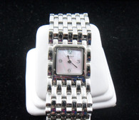 Ladies Stainless Steel Cartier Panthere Ruban Watch, with Pink Mother of Pearl Dial