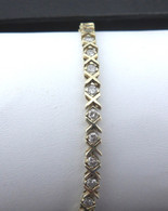 Classic X&O Style Diamond Tennis Bracelet, in 14kt Yellow Gold