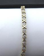 Classic X&O Style Diamond Tennis Bracelet, in 14kt Yellow Gold