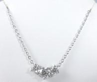 1 1/2 Carat 'Past, Present. Future' 3 Diamond Pendant Necklace