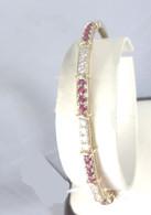 Diamond & Ruby Bangle Bracelet, in 14k Yellow Gold