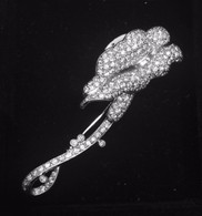 "2 Carat Pave Diamond ""Lovebirds"" Pin, in 18k White Gold"