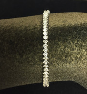 2 1/2 Carat Platinum Diamond Tennis Bracelet
