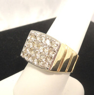 2 Carat Men's Diamond Cluster Ring, in 14 Karat Yellow Gold