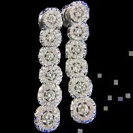 Cascading Diamond Chandelier Earrings