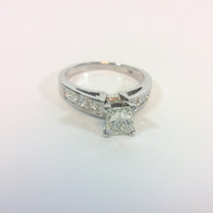 1.01ct Princess Engagment Ring