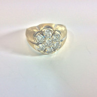1+ Carat Diamond Cluster Ring