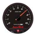 """AccuTech™ SMi™ 4 1/2"""" Black Face Memory Tachometer - 10K — LON44384"""