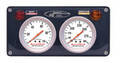 2 Gauge Composite Panel w. Sportsman™ Gauges - OP,WT — Longacre 44462
