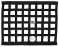 Crow Black Solid Mount Window Net 18X24, SFI 27.1 Approved, Nylon Webbing