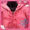 100% Polyester Hooded Jacket with Zipper and embroidered with your initials!