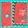 "Coral Tee with aqua and white ""Keep Calm"" Design.  Love these color combinations!"