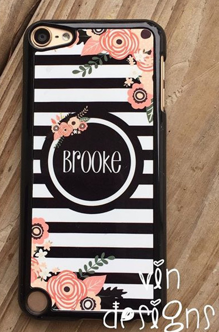 """Stripe and Floral craze "" phone case"