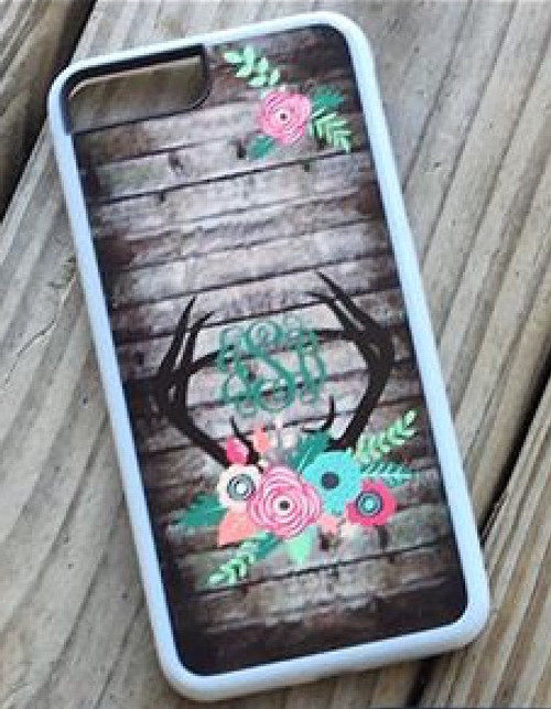 Antlers and floral Phone case