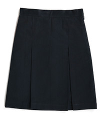Navy skirt with box pleats