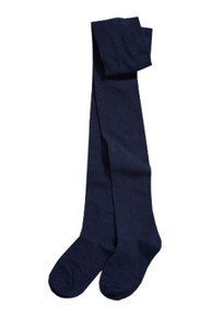 Navy blue, cotton-rich tights