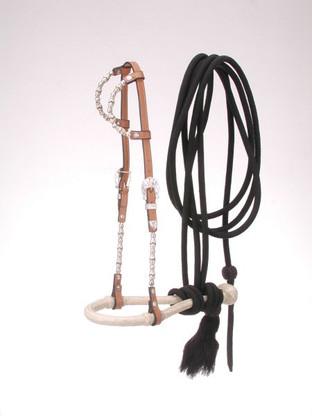 Double Ear Bosal Mecate Set Gaited Horse Tack