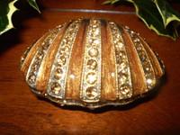 Beautiful Danish Crystal Shell Trinket jewellery box.