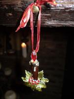 Danish Austrian Crystal Ceramic Candle Christmas Tree Decoration