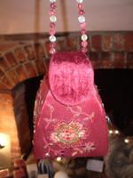 Gorgeous Austrian Velvet embriodery and sequin Jewellery Box