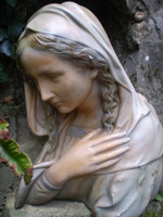 Beautiful Antique 1930's Madonna,Virgin Mary bust from a Belgian Nuns Convent.