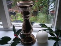 Danish Copper Metallic Colour Ceramic Candle Stand & Danish ball candle