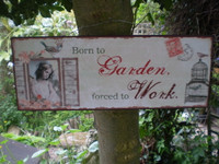 1930's Style Gardenia Metal Hanging Garden Sign,Just Beautiful