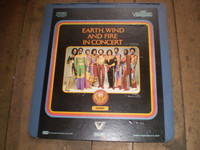 Rare Vintage Video Disc,Earth,Wind and Fire in Concert 1982