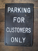 Architectural Salvage,Vintage Pub Sign,Parking for Customers only,Cast Iron