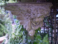 Vintage 1930's French Wall Hanging Garden Angel Statue