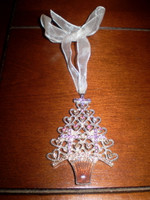 Danish Designed Crystal Christmas Jewelled Tree Hanging Decoration