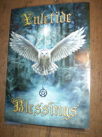 Traditional English Christmas,Yuletide Owl New Age card,Eco Friendly