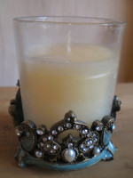 Austrian Crystal Candle Sconce,Dusty Blue Colour.