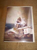 English Fairy card,Victorian Fairies in the attic